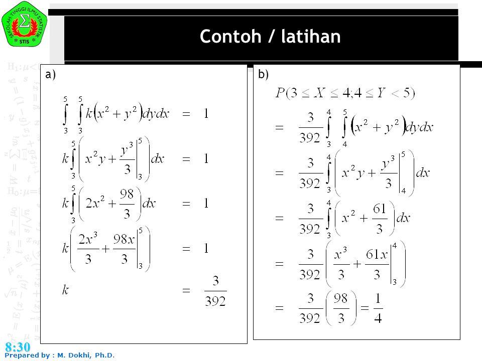 Contoh / latihan a) b) 8:30