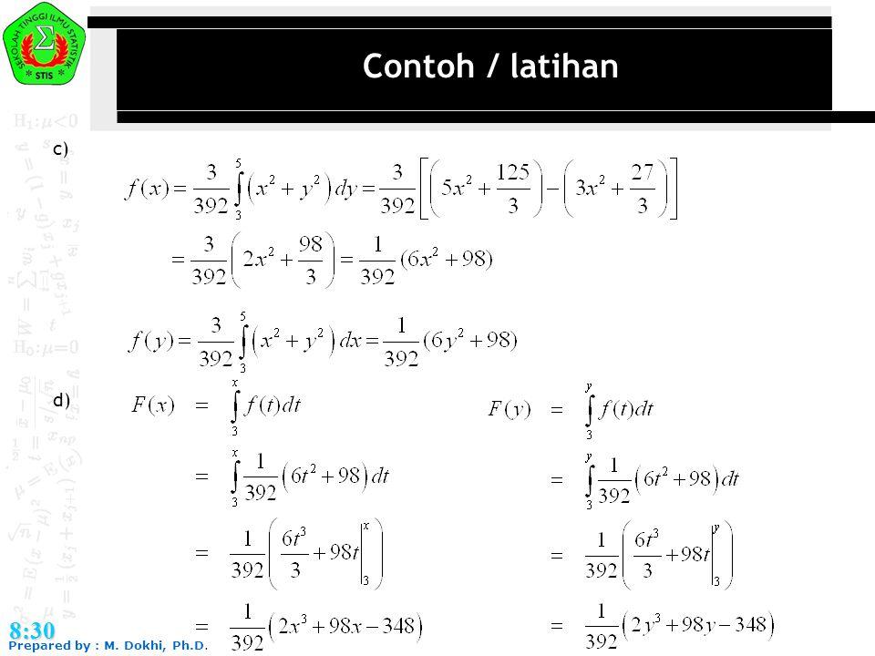 Contoh / latihan c) d) 8:30