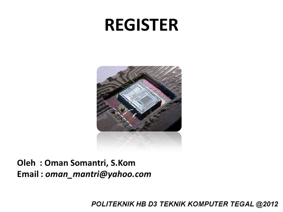 REGISTER Oleh : Oman Somantri, S.Kom