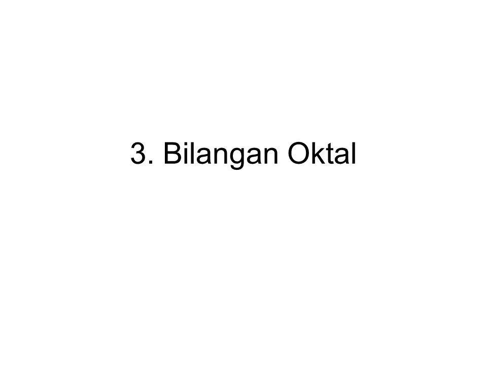 3. Bilangan Oktal