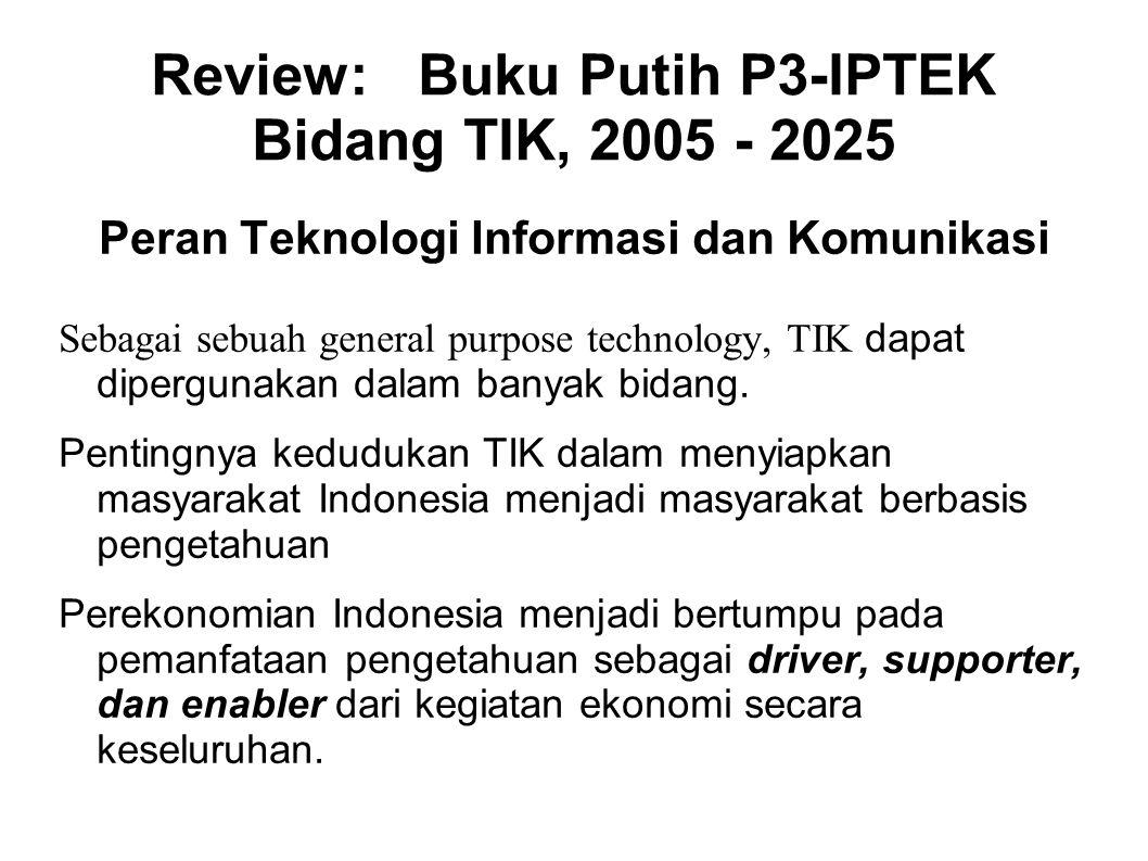 Review: Buku Putih P3-IPTEK Bidang TIK, 2005 - 2025