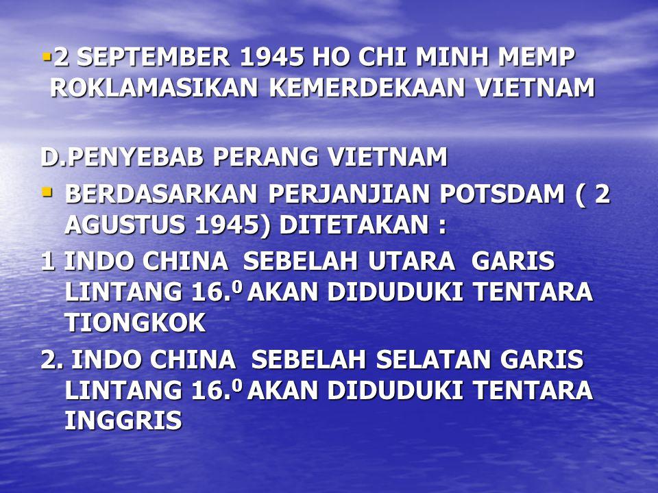 2 SEPTEMBER 1945 HO CHI MINH MEMP ROKLAMASIKAN KEMERDEKAAN VIETNAM