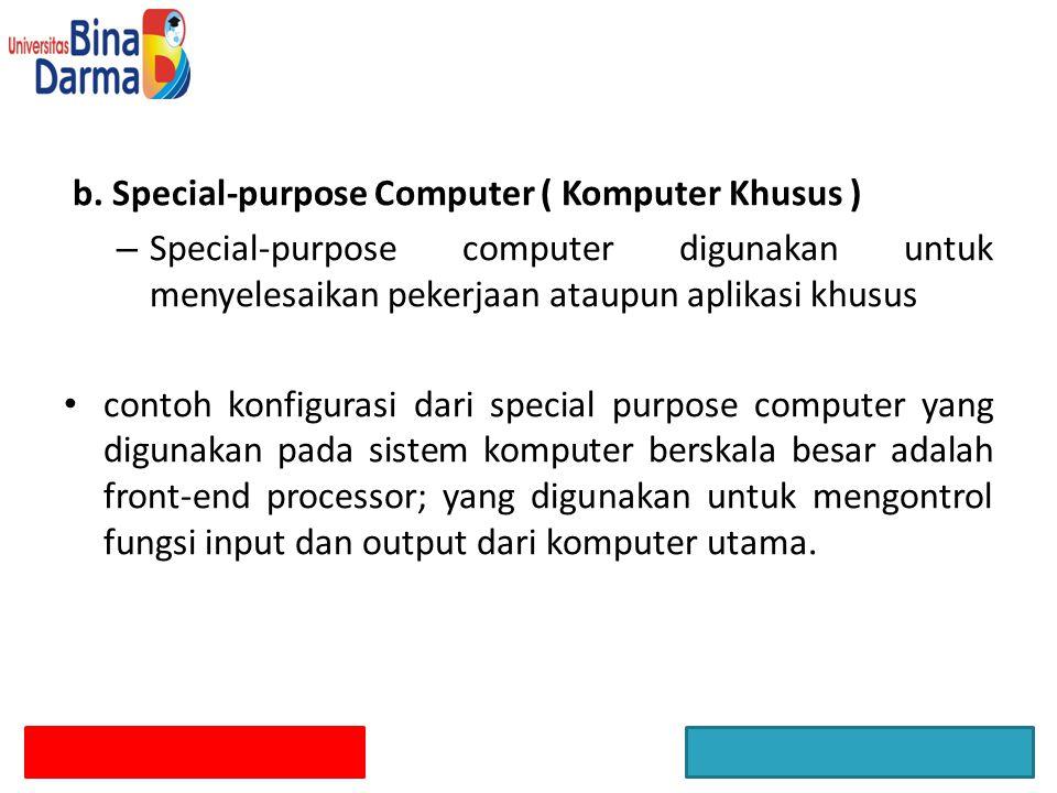 b. Special-purpose Computer ( Komputer Khusus )