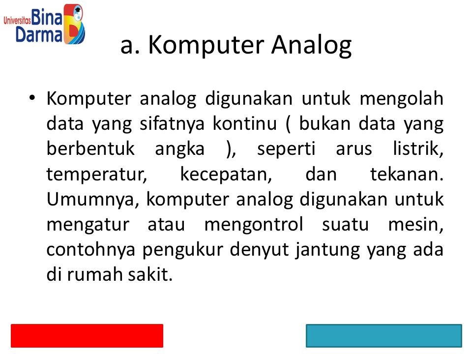 a. Komputer Analog