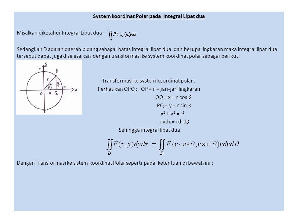 System koordinat Polar pada Integral Lipat dua