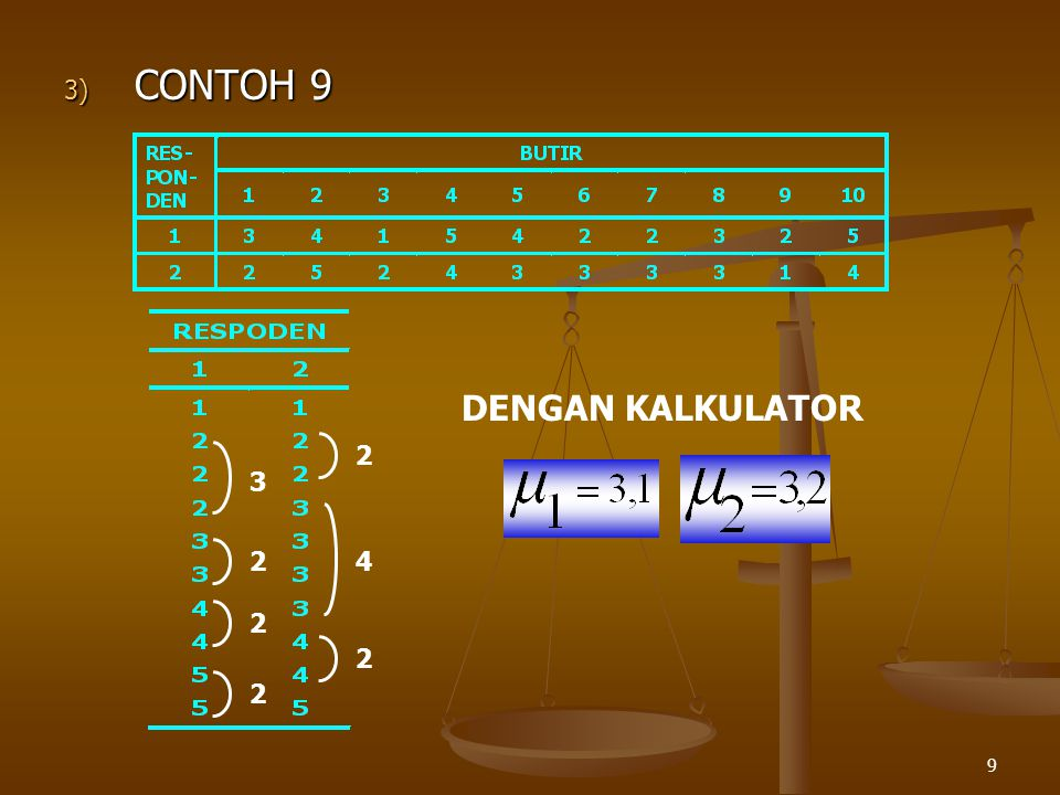 CONTOH 9 DENGAN KALKULATOR 2 3 2 4 2 2 2