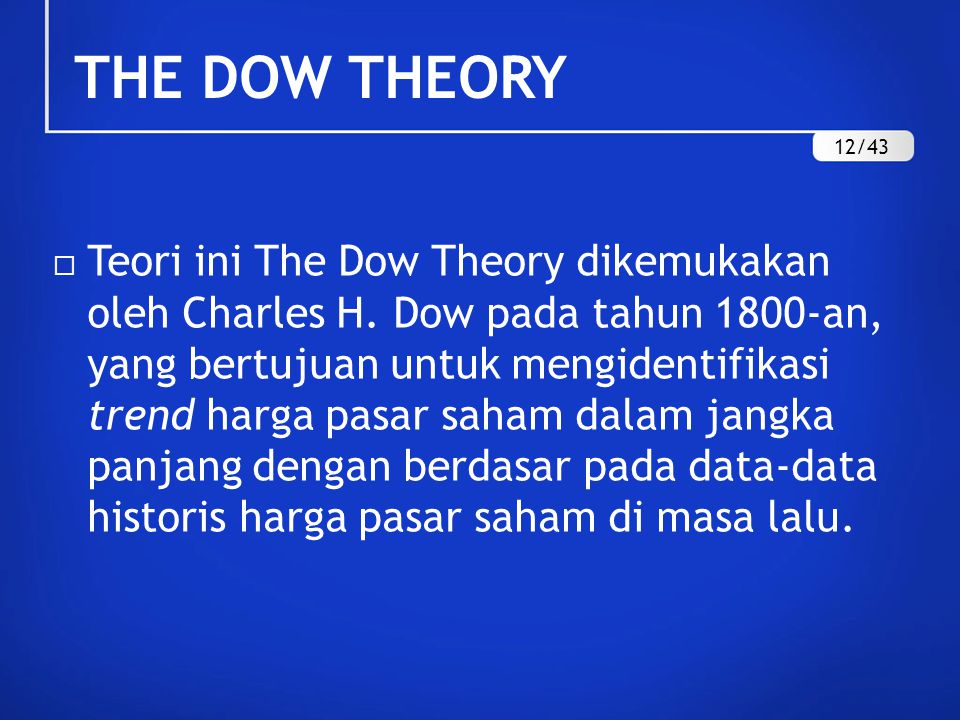 THE DOW THEORY 12/43.