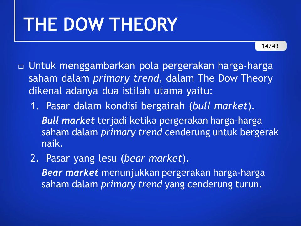 THE DOW THEORY 14/43.