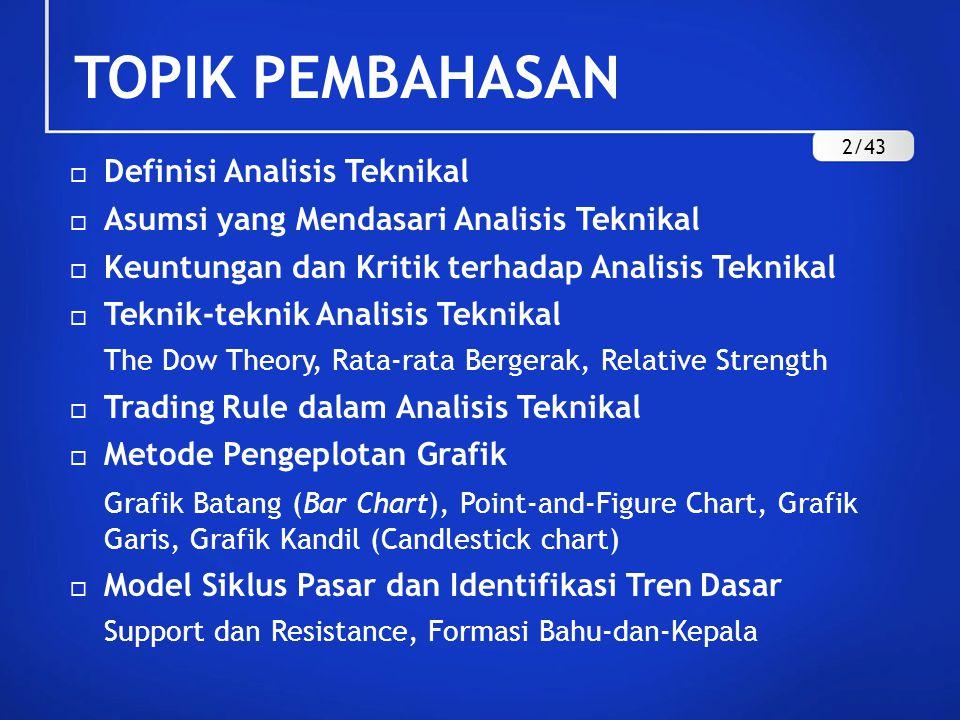 TOPIK PEMBAHASAN Definisi Analisis Teknikal