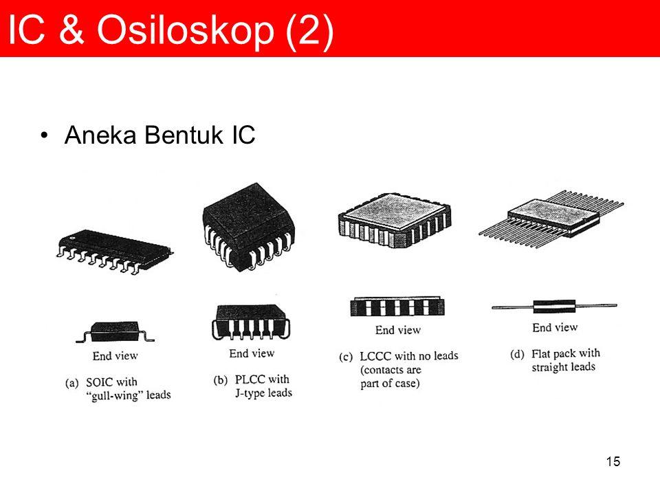 IC & Osiloskop (2) Aneka Bentuk IC