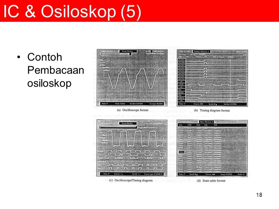 IC & Osiloskop (5) Contoh Pembacaan osiloskop