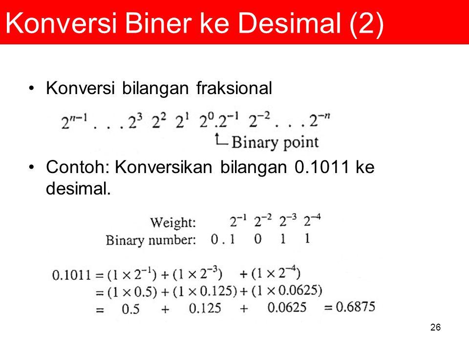 Konversi Biner ke Desimal (2)