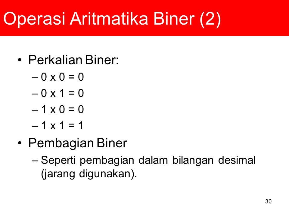 Operasi Aritmatika Biner (2)