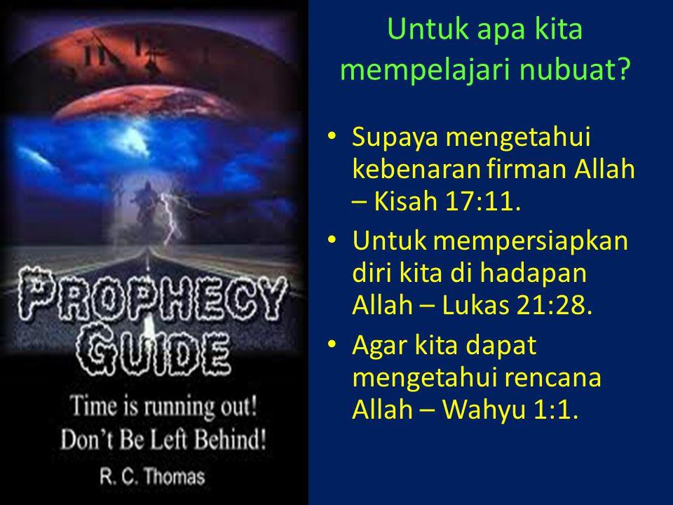Untuk apa kita mempelajari nubuat