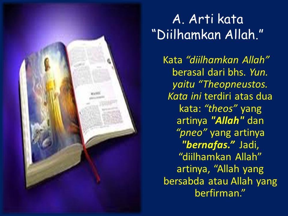 A. Arti kata Diilhamkan Allah.