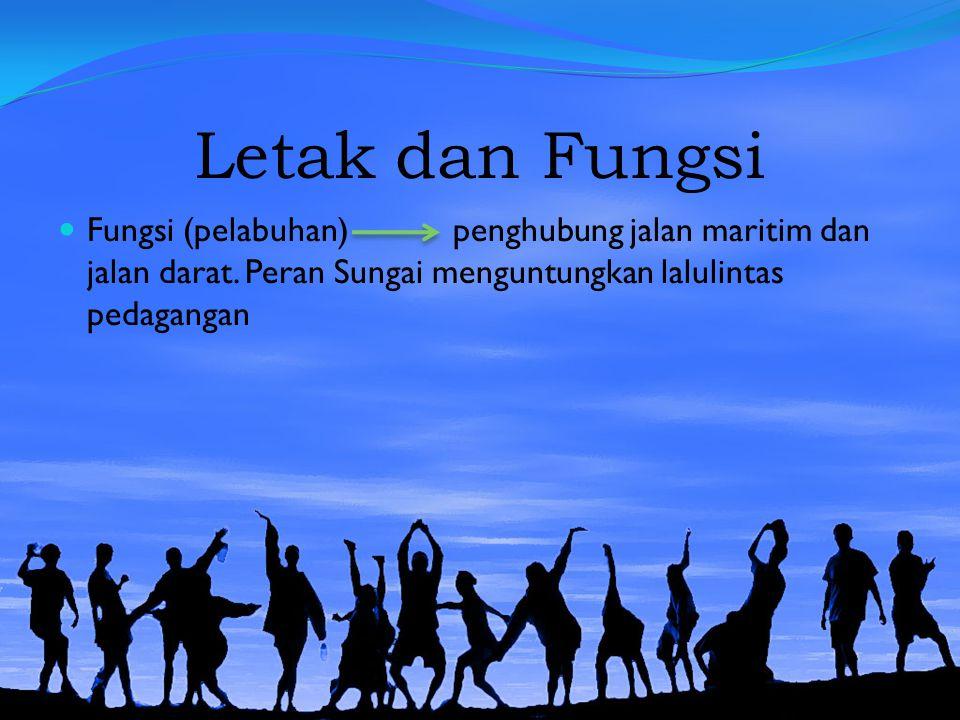 Letak dan Fungsi Fungsi (pelabuhan) penghubung jalan maritim dan jalan darat.