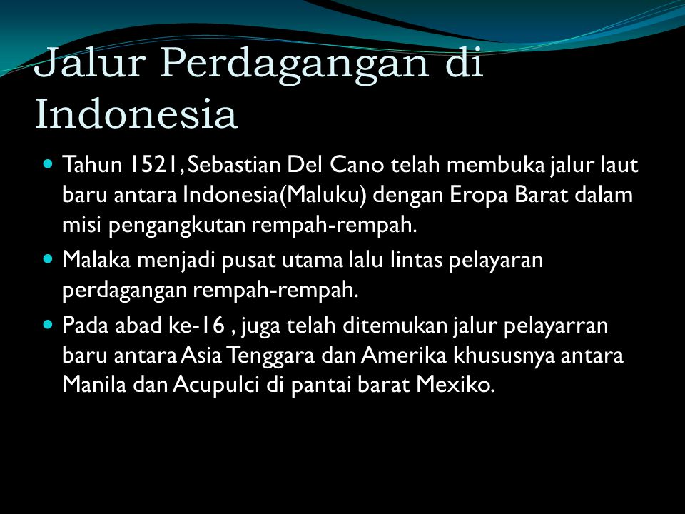 Jalur Perdagangan di Indonesia