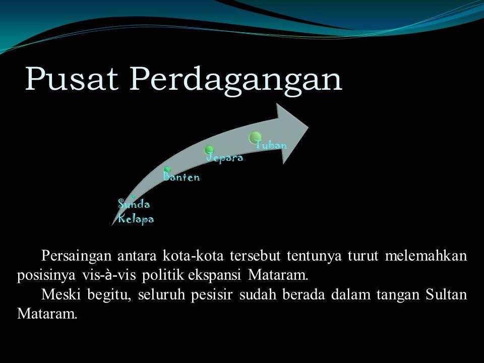 Pusat Perdagangan Sunda Kelapa. Banten. Jepara. Tuban.