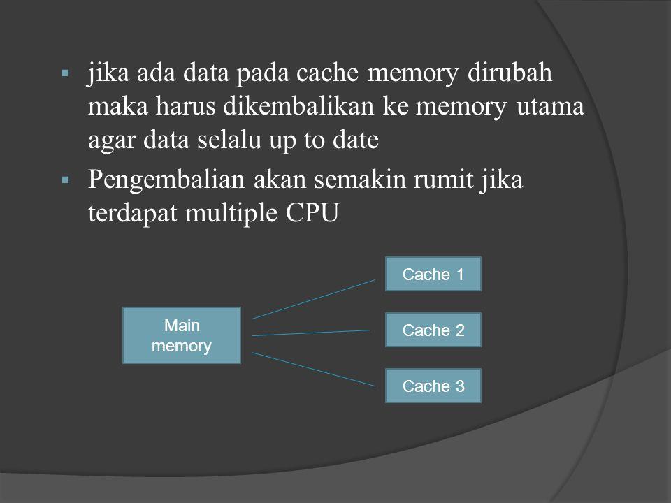 Pengembalian akan semakin rumit jika terdapat multiple CPU