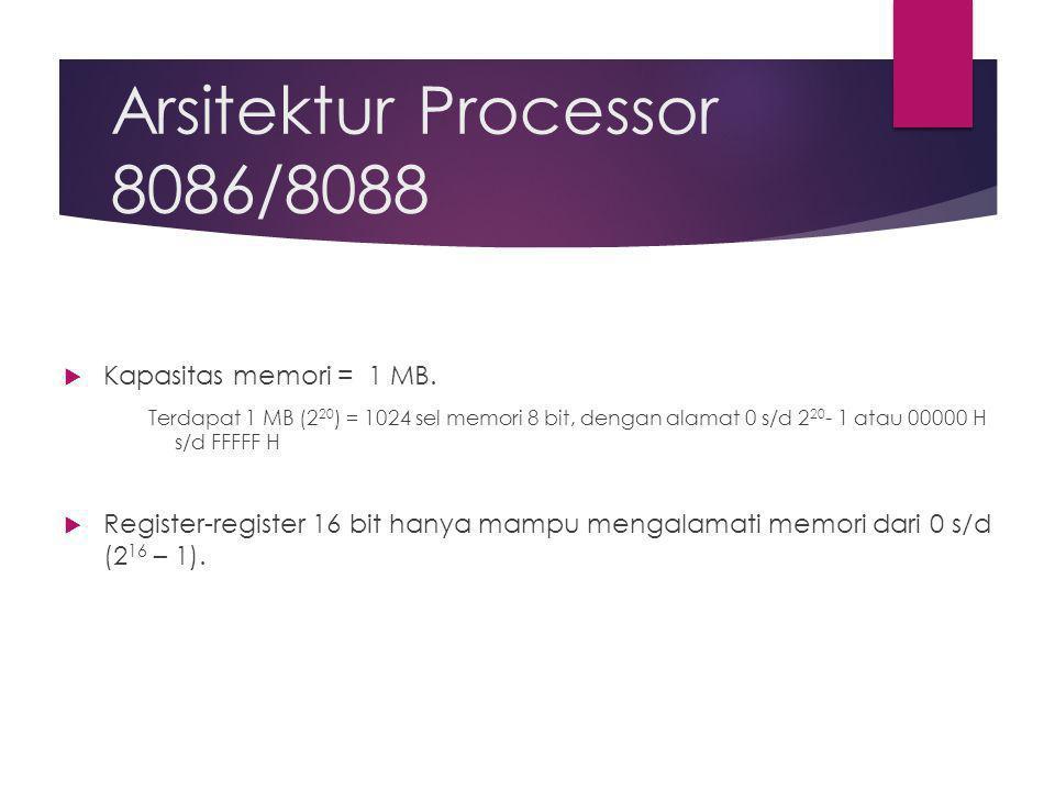 Arsitektur Processor 8086/8088