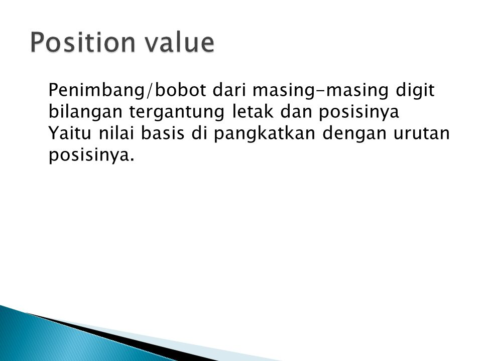 Position value
