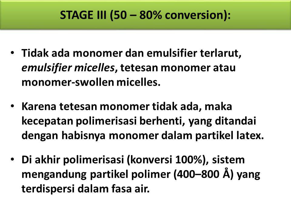 STAGE III (50 – 80% conversion):
