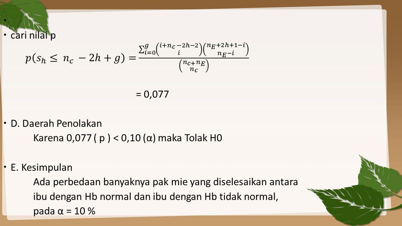 cari nilai p 𝑝 𝑠 ℎ ≤ 𝑛 𝑐 −2ℎ+𝑔 = 𝑖=0 𝑔 𝑖+ 𝑛 𝑐 −2ℎ−2 𝑖 𝑛 𝐸 +2ℎ+1−𝑖 𝑛 𝐸 −𝑖 𝑛 𝑐+ 𝑛 𝐸 𝑛 𝑐.