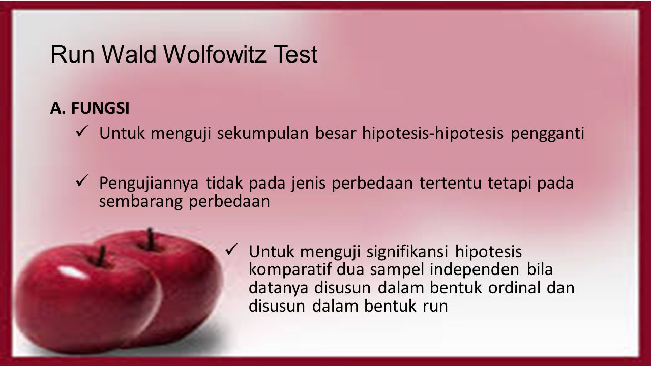 Run Wald Wolfowitz Test
