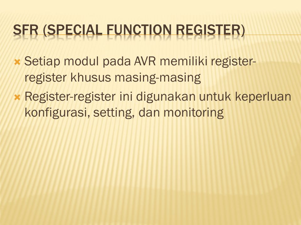 SFR (Special function register)