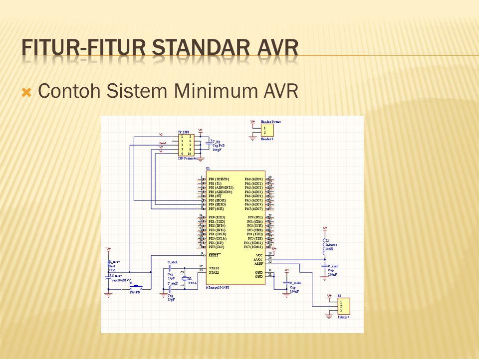 Fitur-fitur standar AVR