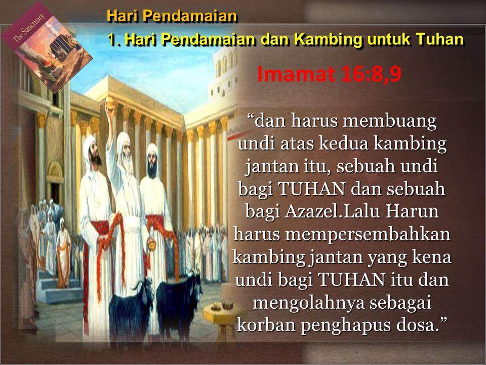 Hari Pendamaian 1. Hari Pendamaian dan Kambing untuk Tuhan