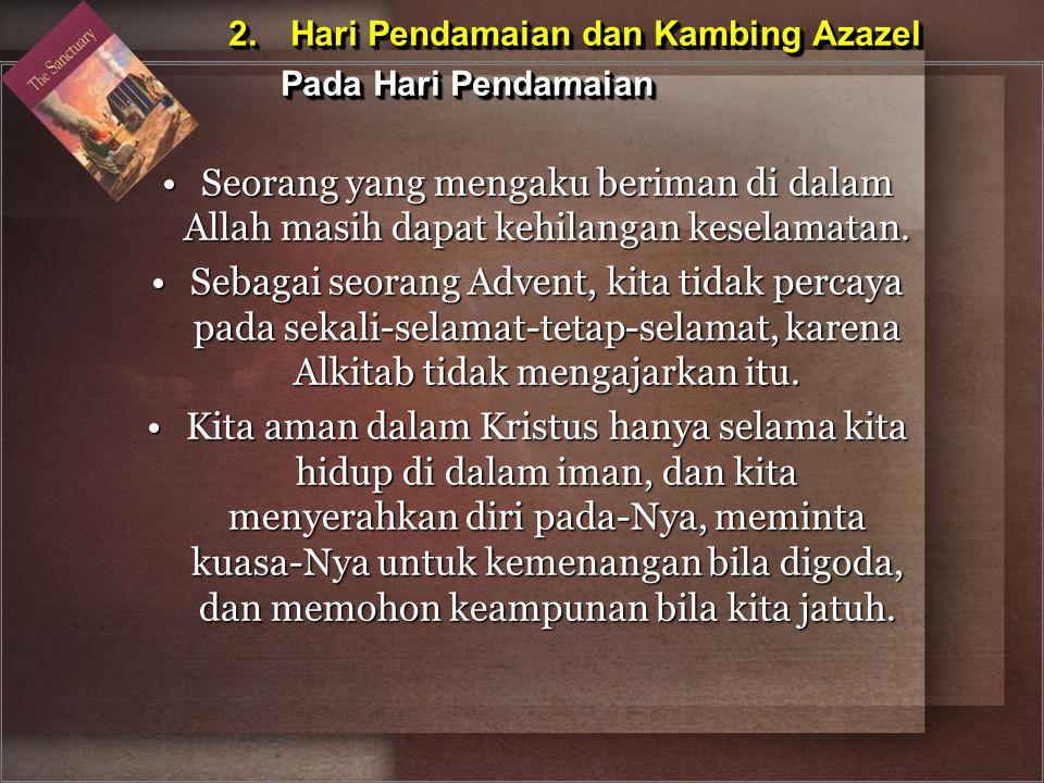 2. Hari Pendamaian dan Kambing Azazel Pada Hari Pendamaian