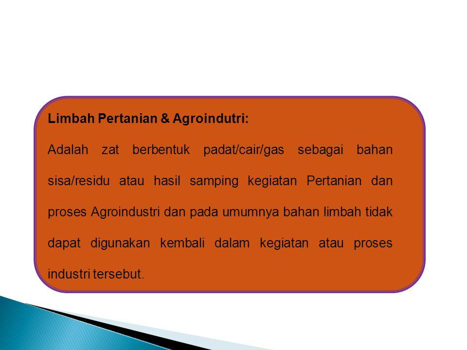 Limbah Pertanian & Agroindutri: