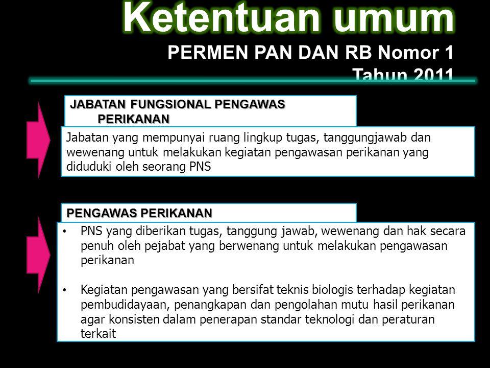 Ketentuan umum PERMEN PAN DAN RB Nomor 1 Tahun 2011