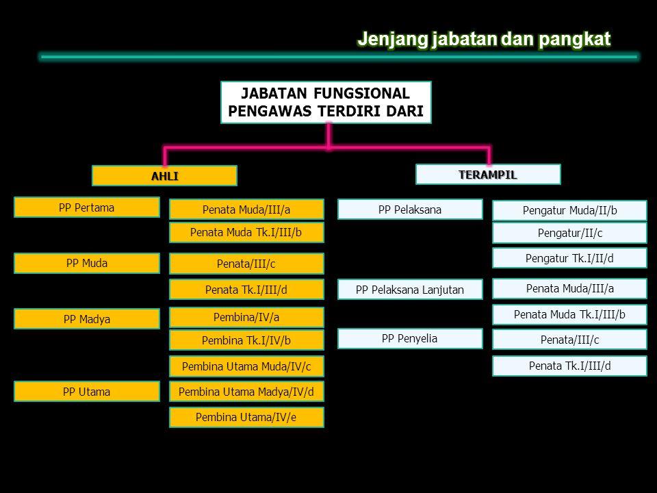 JABATAN FUNGSIONAL PENGAWAS TERDIRI DARI