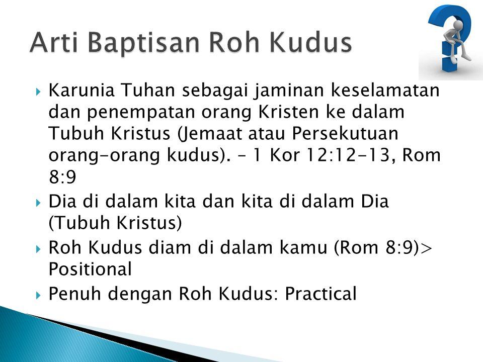Arti Baptisan Roh Kudus