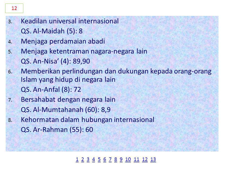 Keadilan universal internasional QS. Al-Maidah (5): 8