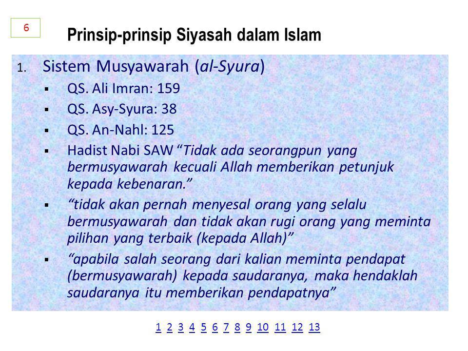 Prinsip-prinsip Siyasah dalam Islam