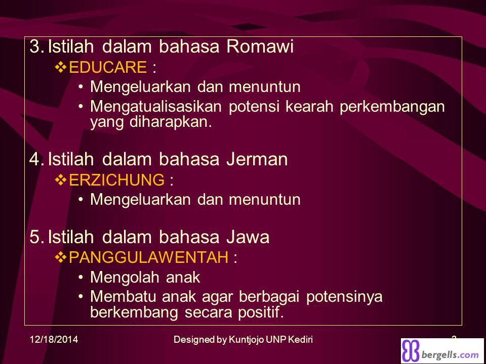 Designed by Kuntjojo UNP Kediri