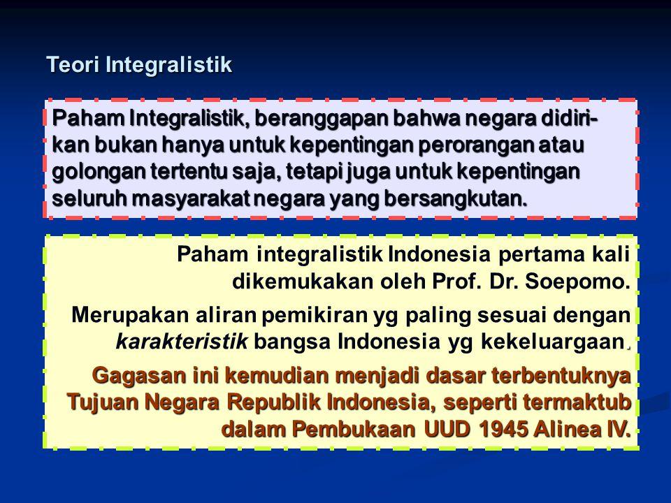 Teori Integralistik