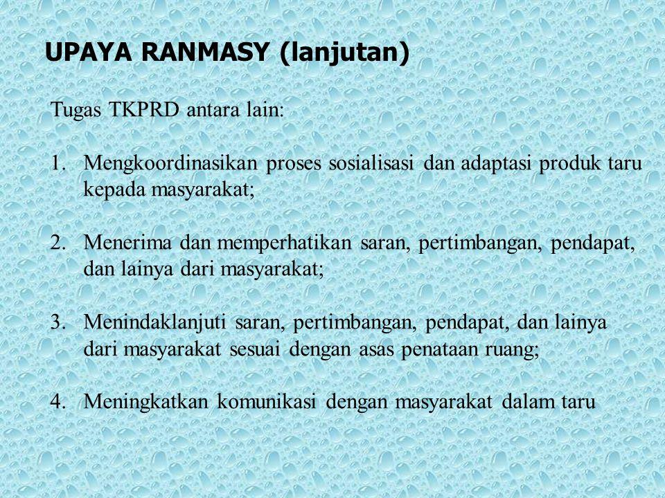 UPAYA RANMASY (lanjutan)