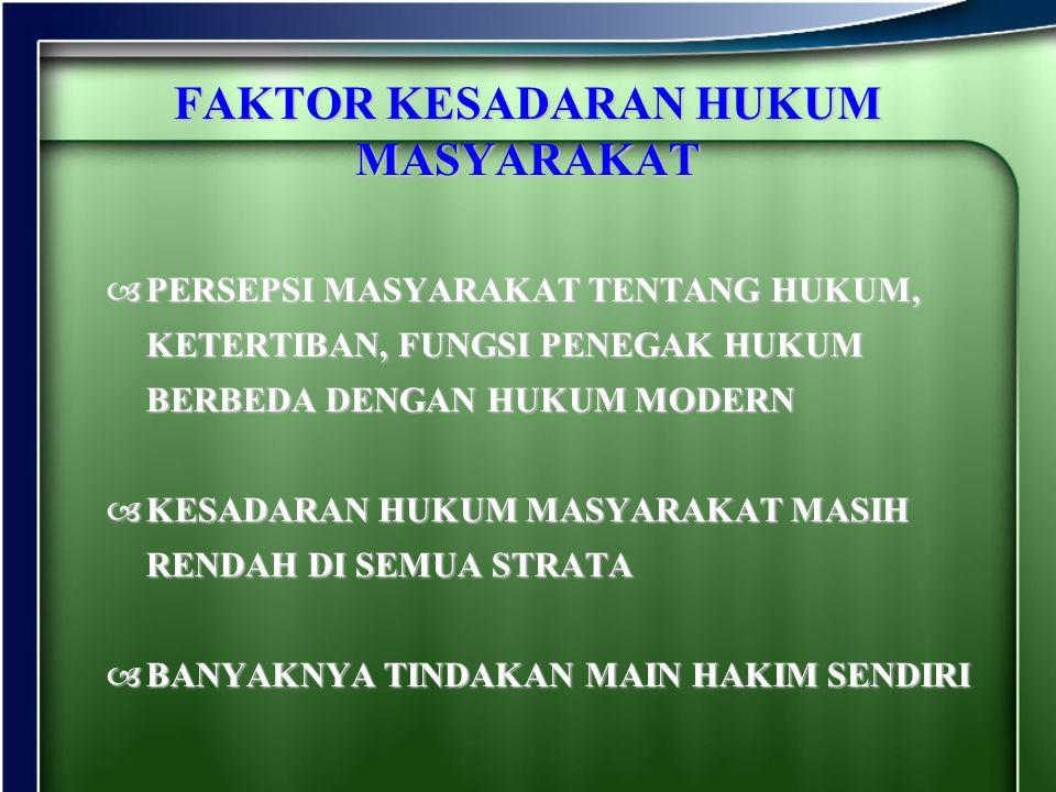 FAKTOR KESADARAN HUKUM MASYARAKAT