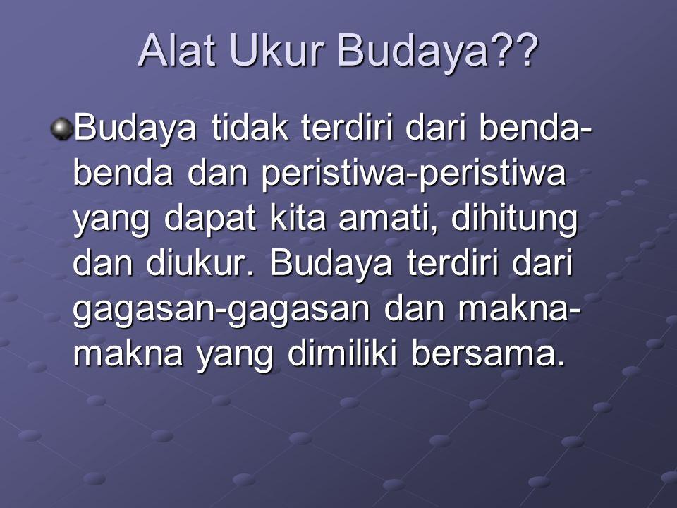 Alat Ukur Budaya