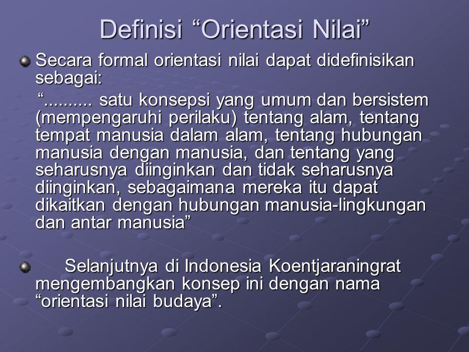 Definisi Orientasi Nilai
