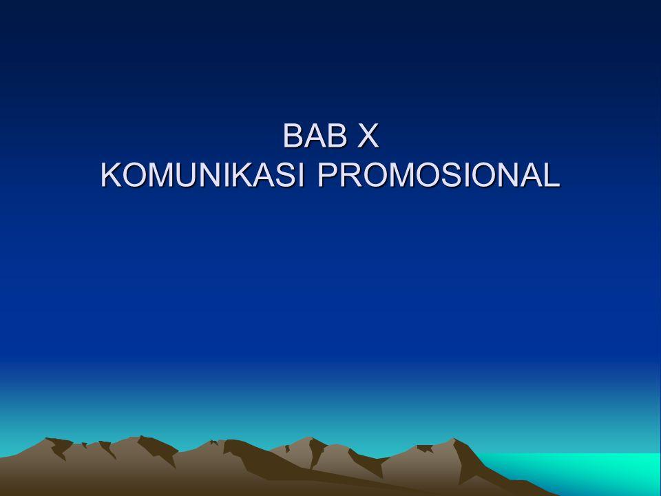 BAB X KOMUNIKASI PROMOSIONAL