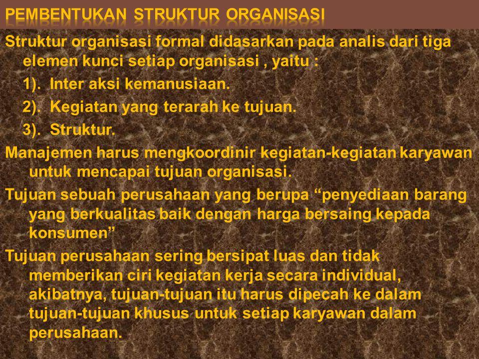 Pembentukan struktur organisasi