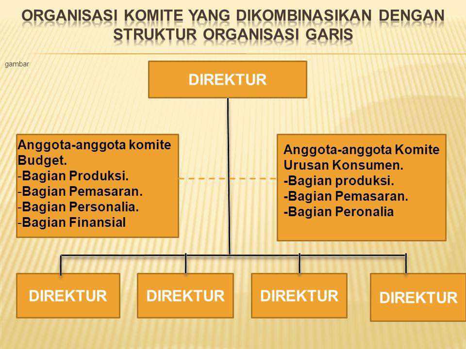 Organisasi komite yang dikombinasikan dengan struktur organisasi garis