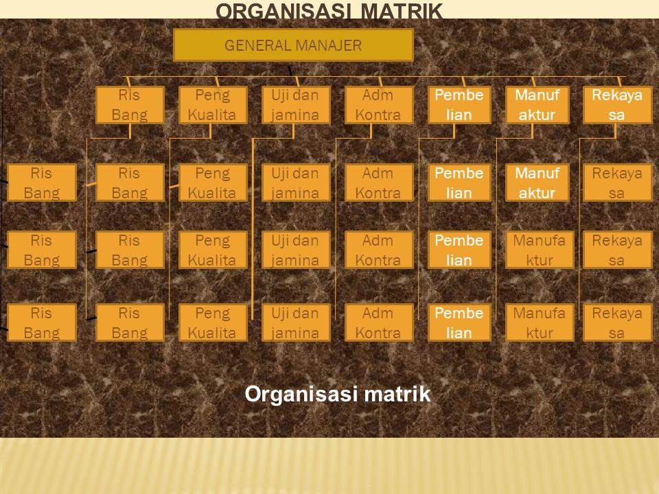 Organisasi matrik Organisasi matrik GENERAL MANAJER Ris Bang