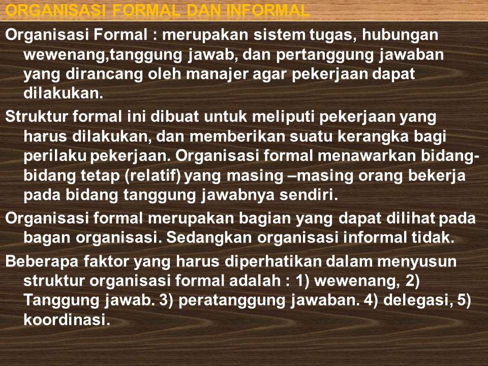 Organisasi formal dan informal
