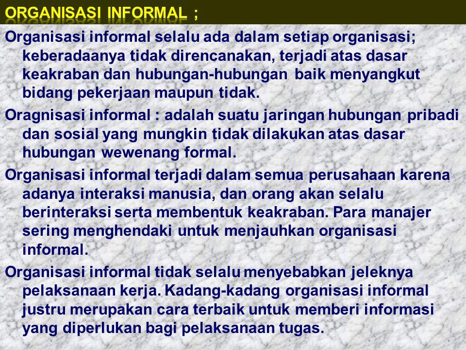 Organisasi Informal ;